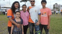 Karla e Jair são de Natal e moram com a família em Florianópolis há dois anos.