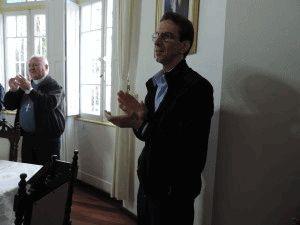 Dom Salm esteve presente na confraternização.