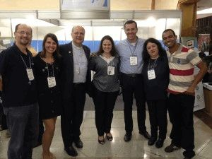 Sedemir, Camila, Dom Darci, Carol, seminarista Andrey, Olga e Roberson.