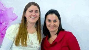 Karla e Fabiana se conheceram há 14 anos nos encontros do grupo de jovens.
