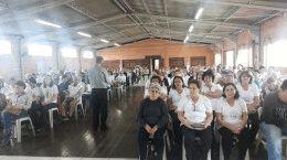 Padre Hélio da Cunha assessorou o encontro.
