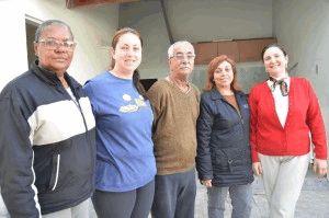 Voluntários: Regina Petry, Florislene Baldissarelli, Valdeci Sardá, Rosangela Zimermann e Oridéia do Espírito Santo
