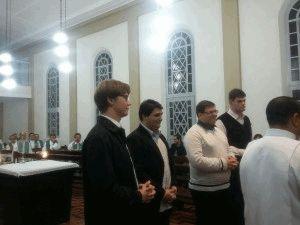 Da esq. para dir.: Lucas, Judá (Diocese de Tubarão), Clóvis e Willian