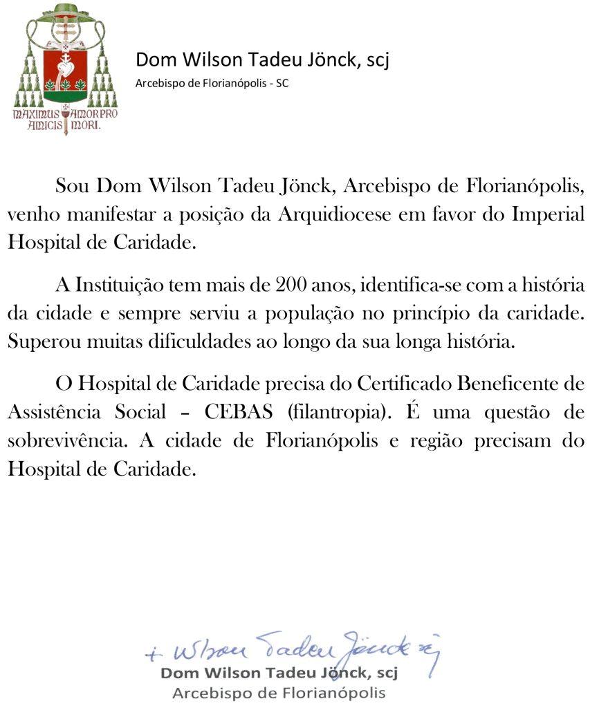 Carta de Dom Wilson