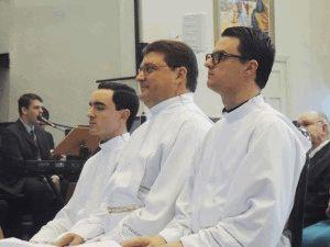 Diáconos Éder, Hércules e Jonathan, a partir de outubro,  sacerdotes da Arquidiocese.