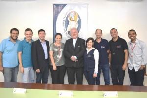 Jornalistas católicos e convidados presentes na coletiva.