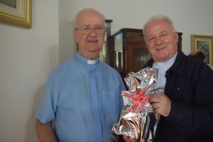 Dom Wilson com o Bispo Emérito, Dom Vito Schlickmann