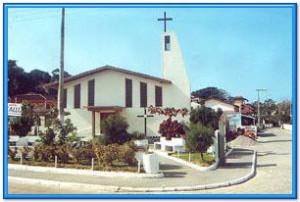 Igreja da praia da Pinheira, em Palhoça.