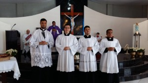 A comunidade da Paróquia da Coloninha ajudou na doação para mobiliar as dependências do Seminário.