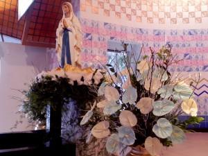 Imagem de Nossa Senhora de Lourdes, da Paróquia da Agronômica.
