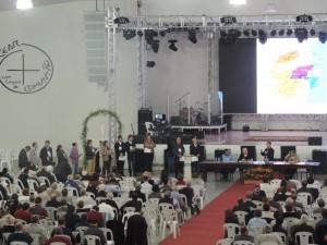 Assembleia arquidiocesana de pastoral realizada em julho de 2014.
