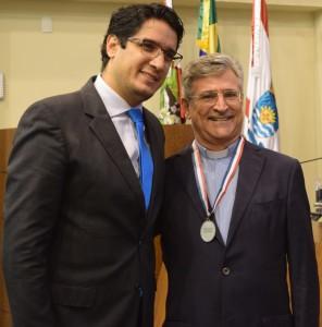 Pe. Vitor com vereador Guilherme Botelho