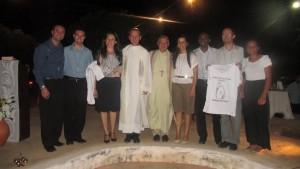 Bispo Dom Luiz, Pe Antonio e os missionários, na Missa de ação de graças pelos nove anos de missão