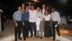 Prefeito municipal, Marcio Mariano e os missionarios, na missa de ação de graças