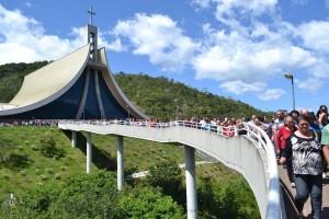 Santuário Santa Paulina recebe cerca de 70 mil peregrinos ao mês.