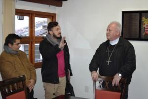 Professor Vilmar Dal Bó com o Arcebispo.
