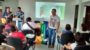 Padre Josemar Silva conduziu os encontros missionários do ano.