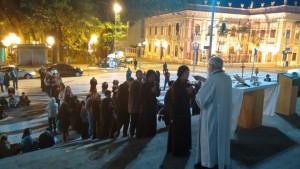 Padre Prim presidiu Missa em uma das noites da missão.
