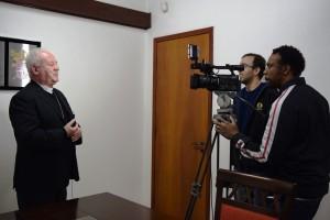 O Arcebispo concedeu entrevista para a equipe da TV Aparecida, na Cúria Metropolitana.