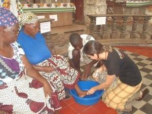 A missionária no retiro da Quaresma de 2014, em Moçambique