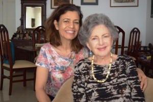 Representantes do judaísmo, as doutoras Leonor Scliar-Cabral (D) e Ethel Scliar (E)