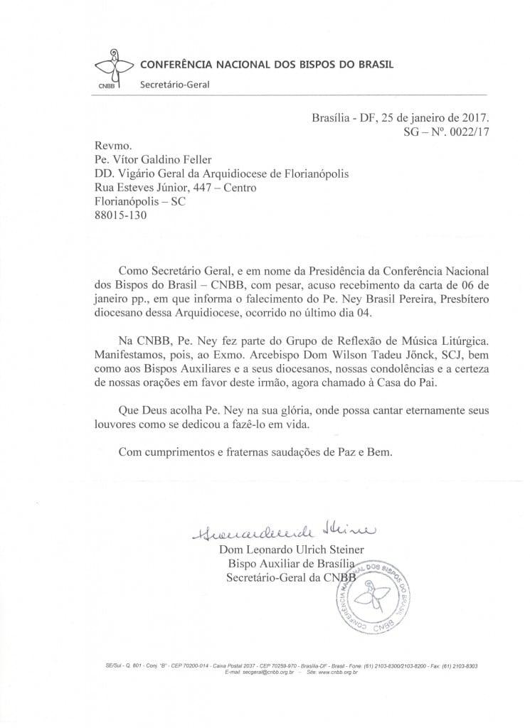 Carta Dom Leonardo