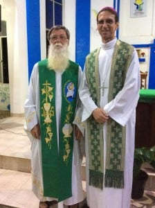 Com o Bispo da Diocese de Tubarão, Dom Salm